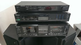 Sony double-cassette player/Sony AM/FM tuner/Kenwood timer in Spangdahlem, Germany