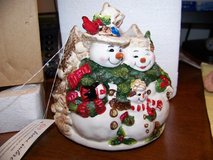 Snowman Candle Topper **REDUCED** in Schaumburg, Illinois