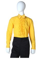 #6444 RUFFLED YELLOW TUXEDO SHIRT NEW in Fort Hood, Texas