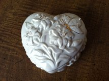 Lenox Heart-Shaped Porcelain Trinket Box in Cherry Point, North Carolina
