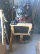 Bear holding chalkboard  in Fort Lewis, Washington
