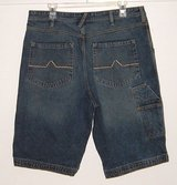 "Pipeline denim jean shorts mens sz 34 with carpenter styling 13"" length urban up in Chicago, Illinois"