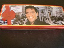 Elvis and Graceland hinged candy tin (empty) in Camp Pendleton, California