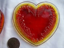 Vintage Boyd Glass Heart trinket box cherry red in Camp Pendleton, California