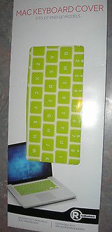 radioshack silicone keyboard cover for macbook and macbook pro green in Camp Lejeune, North Carolina
