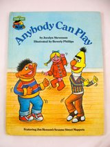 "Vintage 1980 Sesame Street Book Club ""Anybody Can Play"" Hard Cover Book. in Morris, Illinois"