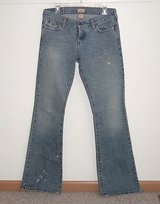 Hollister Distressed Stonewash Flare Jeans Womens 7L 7 x 35 Long Juniors in Morris, Illinois