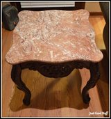 A PAIR OF ROSEWOOD MARBLE END TABLES  on SALE NOW! in The Woodlands, Texas