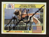 NEW signed bruce jenner  autograph auto 1983 topps greatest olympians in Kingwood, Texas