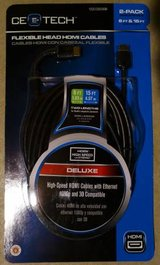 6ft. and 15ft. HDMI Flexible Head Cable - Deluxe 3D by CE Tech in Naperville, Illinois