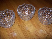(3) vintage crystal ceiling light globe shade cover lamp  vintage in Orland Park, Illinois
