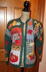 Hand Knitted Fall Cardigan, Signatures-Northern Isles, Ramie/Cotton, M in Plainfield, Illinois