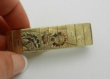 "Vintage Sarah Coventry Embossed Etched Floral Estate Gold Plated Bracelet 7"" in Oswego, Illinois"