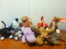 set of 10 miniature beanie babies-all have tags in Cherry Point, North Carolina