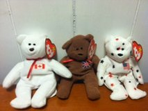 set of 3 miniature beanie baby bears-all have tags in Cherry Point, North Carolina