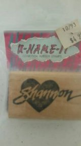 Shannon brand new name rubber stamp in Camp Pendleton, California