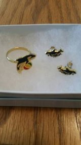Vintage Shamu earring and ring set in Camp Pendleton, California