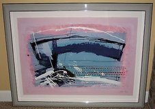 ART - Framed Argentina Israeli Artist Calman Shemi Abstract Lithograph - Signed - Untitled - L.E. in Aurora, Illinois