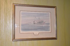 "stan strickland ""georgia coastal empire"" prof framed signed and numberd print. in Camp Lejeune, North Carolina"