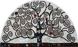 Tree of Life wall mosaic in Naperville, Illinois