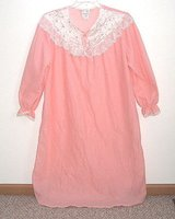 Kelly Reed Orange Cream Lacey Floral Stitch Nightgown In Women's Tag Size Large 16-18 in Plainfield, Illinois