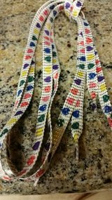 New shoelaces with a heart pattern in Camp Pendleton, California