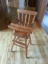 Vintage Doll High Chair - Wood - 1960's in Orland Park, Illinois