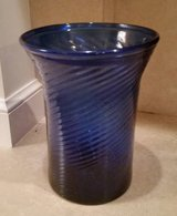 Vase - Cobalt Blue Swirl Hand Blown - Large - Antique in Chicago, Illinois