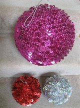 Sequin Hanging Balls (3) - from Pier 1 Imports in Glendale Heights, Illinois