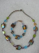 Necklace and Bracelet - Beautiful glass beads in excellent condition in Glendale Heights, Illinois