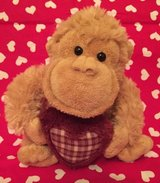 Valentine's Day monkey with heart  - stuffed animal in Naperville, Illinois