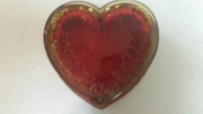 Vintage heart shaped glass trinket box in Oceanside, California