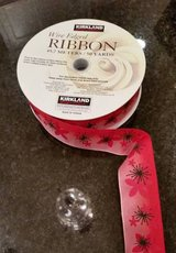 Ribbon - Wired Edge - Floral Pattern - 50 yards - NEW in Naperville, Illinois