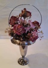 """Silver Basket with Handle - 13"""" t x 7"""" w in Aurora, Illinois"""