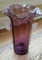 Vase - Hand Blown Purple and Clear Glass in Chicago, Illinois