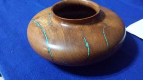 Wood Bowl With Turquoise Inlay in Cleveland, Texas