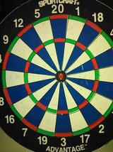 Hardly used dart board in Fort Lewis, Washington