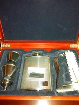 Golfers flask gift set with shot glasses, knife and and ball markers in Fort Lewis, Washington