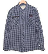 Point Zero Blue Plaid Adjustable Sleeve Button Down 3 Pocket Shirt Mens 2X in Yorkville, Illinois