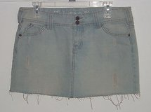 Industrial Cotton Distressed Chambray Denim Jean Skirt Womens 9 Juniors 33 Waist in Morris, Illinois