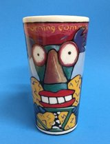 """RARE Collectible Chaleur Travel Mug Cup """"Morning Commute"""" Ringer Lid in Morris, Illinois"""