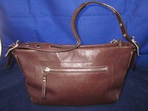 COACH VINTAGE Purse #F06D-1417 Dark Brown Silver Strap ~ EXCELLENT in Naperville, Illinois