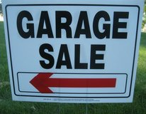(6) Deluxe GARAGE SALE Signs Rent or Buy ~ High Quality in Naperville, Illinois