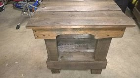 Reclaimed wood end table/patio table in Camp Pendleton, California