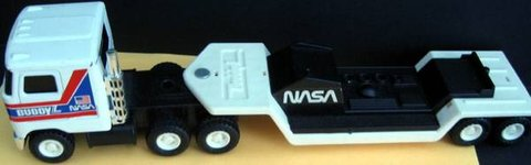 Vintage Buddy L NASA Mack Semi Truck Carrier Hauler Toy Shuttle in Naperville, Illinois