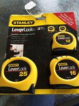 Stanley leverlock tape measure 3 pk in Macon, Georgia