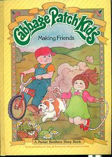 Vintage 1984 Parker Brothers Cabbage Patch Kids Hard Cover Book Making Friends in Morris, Illinois