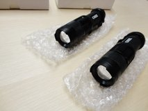 Brand New 2pcs high quality cree led 7w 300lm mini flashlight torch 3 mode zoomable focus in Plainfield, Illinois