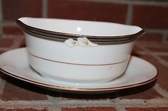 Noritake Ellington Gravy/Sauce Boat with Saucer in Joliet, Illinois