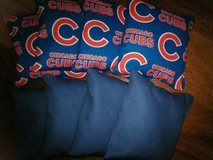 chicago cubs corn filled cornhole bean bags 4 royal /4 chicago cubs in Oswego, Illinois